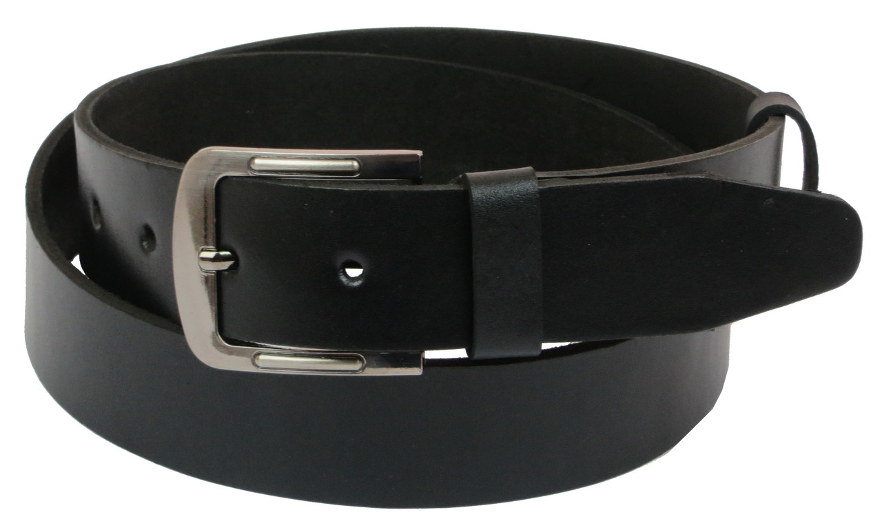 Чоловічий шкіряний ремінь під джинси Skipper 1095-38 чорний 3,8 см
