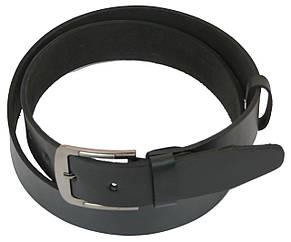 Чоловічий шкіряний ремінь під джинси Skipper 1095-38 чорний 3,8 см, фото 2