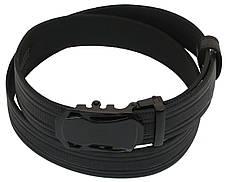 Чоловічий шкіряний ремінь під штани Skipper 1069-35 чорний х3,5 см, фото 2