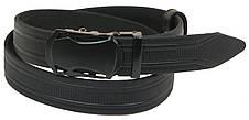 Чоловічий шкіряний ремінь під штани Skipper 1069-35 чорний х3,5 см, фото 3