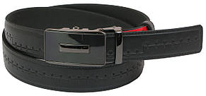 Мужской кожаный ремень под брюки Skipper 1090-35 черный 3,5 см, фото 2