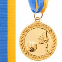"Медаль ""Баскетбол"" діаметр 5 см з стрічкою"