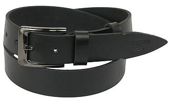 Чоловічий шкіряний ремінь під джинси Skipper 1128-38 чорний 3,8 см, фото 2