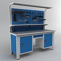 Верстак для мастерской с местом для работы сидя