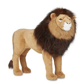 Гігантський плюшевий лев  71х81 см реалістична м'яка іграшка  ТМ Melіssa & Doug MD30418