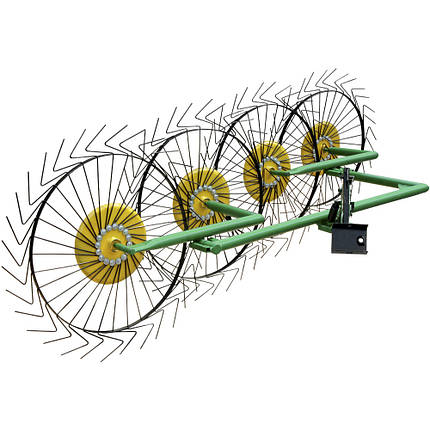 Грабли солнышко для мотоблокана 4 колеса Кентавр, фото 2