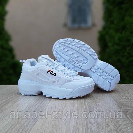 Женские кроссовки Fila Disruptor 2 белого цвета, фото 2
