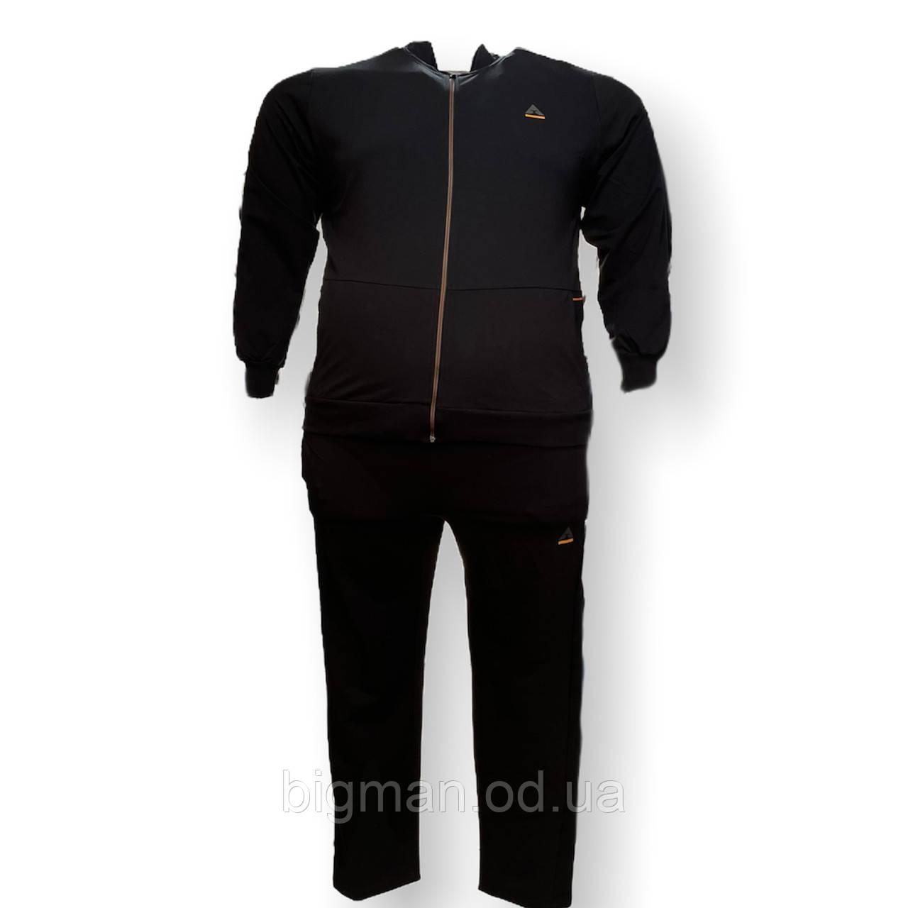 Мужской спортивный костюм Grand la Vita 15030 3XL 4XL 6XL 7XL черный Турция трикотаж батал