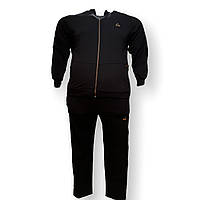 Мужской спортивный костюм Grand la Vita 15030 3XL 4XL 6XL 7XL черный Турция трикотаж батал, фото 1