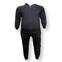 Чоловічий спортивний костюм Scour 15031 3XL 4XL 5XL 6XL 7XL синій Туреччина трикотаж батал, фото 1