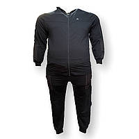 Мужской спортивный костюм Scour 15031 3XL 4XL 5XL 6XL 7XL синий Турция трикотаж батал, фото 1