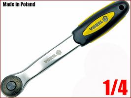 Ключ трещотка для головок 1/4 Vorel 53571