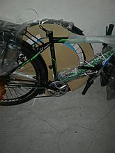 """Велосипед міської чоловічий 26"""" Discovery Prestige Man 2021 рама 18"""" чорно-зелений"""