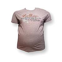 Мужская батальная футболка Monte Carlo 12091 3XL 4XL 5XL 6XL 7XL розовый большие размеры Турция, фото 1
