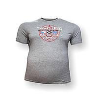 Чоловіча батальна футболка Monte Carlo 12095 3XL 4XL 5XL 6XL 7XL світло-сірий великі розміри Туреччина, фото 1