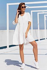 Жіноча однотонна сукня вільного крою