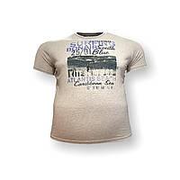 Чоловіча батальна футболка Monte Carlo 12097 3XL 4XL 5XL 6XL 7XL коричнева великі розміри Туреччина, фото 1
