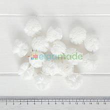 Помпон фатиновый БЕЛЫЙ, 2.5 см, 1 шт