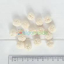 Помпон фатиновый МОЛОЧНЫЙ, 1.5 см, 1 шт
