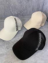 Женская кепка бейсболка Balenciaga черная бежевая белая