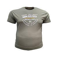 Чоловіча батальна футболка на резинці PoloPepe 12104 3XL 4XL 5XL 6XL хакі великі розміри Туреччина, фото 1