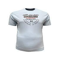 Чоловіча батальна футболка на резинці PoloPepe 12105 3XL 4XL 5XL 6XL блакитна великі розміри Туреччина, фото 1