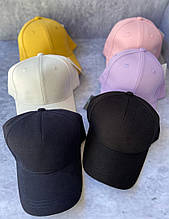 Женская кепка бейсболка базовая в расцветках