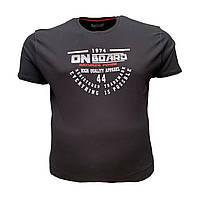 Мужская батальная футболка на резинке PoloPepe 12106 3XL 4XL 5XL 6XL черная большие размеры Турция, фото 1