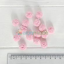 Помпон фатиновый СВЕТЛО-РОЗОВЫЙ, 1.5 см, 1 шт