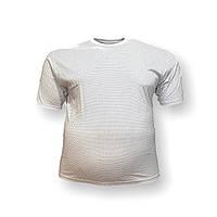 Мужская батальная футболка Borcan 12108 3XL 4XL 5XL 6XL белая большие размеры Турция, фото 1