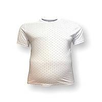Мужская батальная футболка Borcan 12109 3XL 4XL 5XL 6XL белая большие размеры Турция, фото 1
