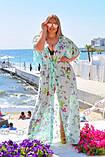 Жіноча довга пляжна туніка батал, фото 2