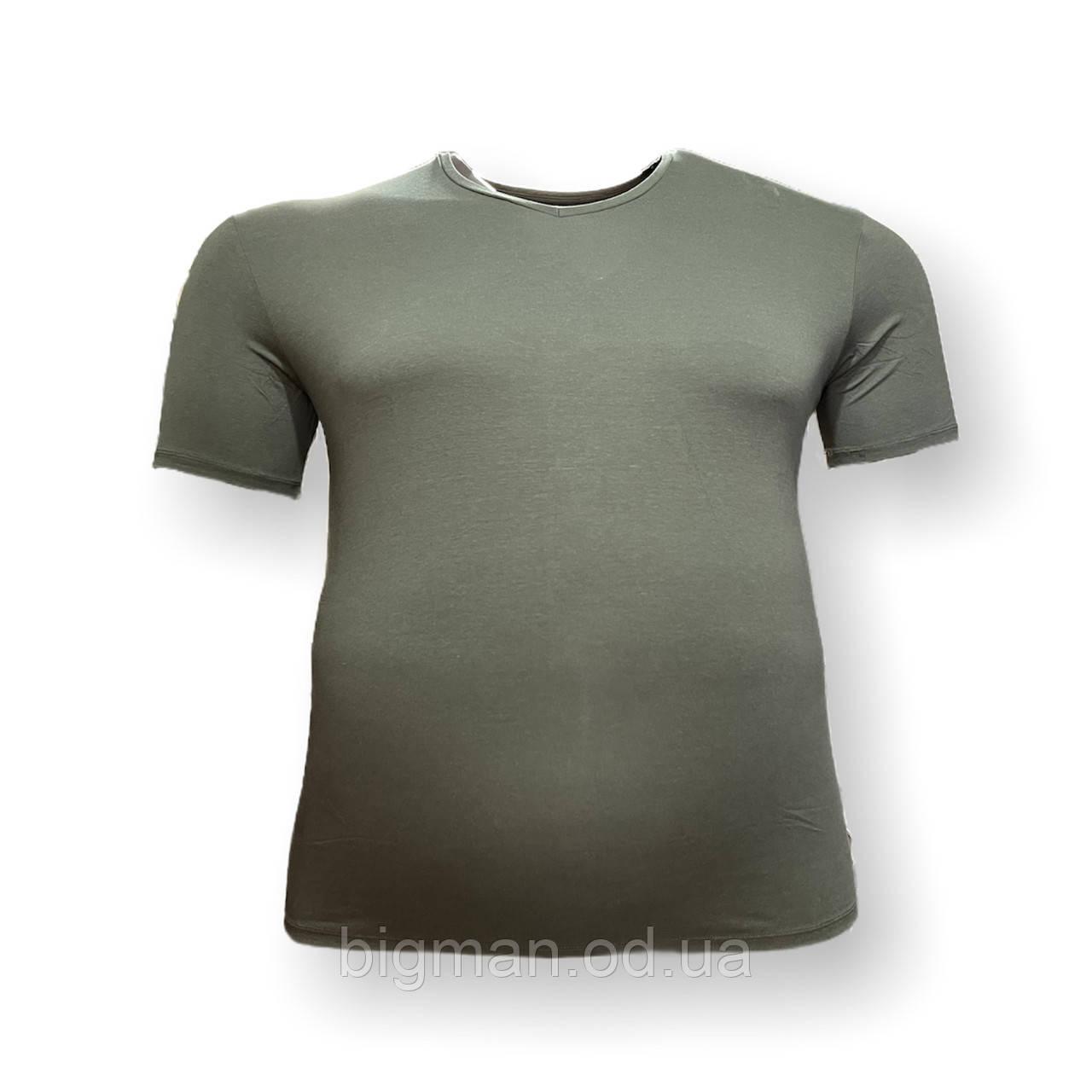 Чоловіча батальна футболка DioRise 12110 3XL 4XL 5XL 6XL 7XL хакі великі розміри Туреччина