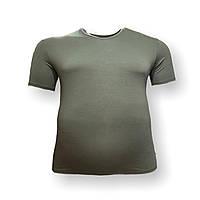 Чоловіча батальна футболка DioRise 12110 3XL 4XL 5XL 6XL 7XL хакі великі розміри Туреччина, фото 1