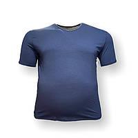 Мужская батальная футболка DioRise 12111 3XL 4XL 5XL 6XL 7XL синяя большие размеры Турция, фото 1