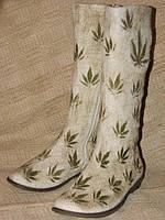 """Обувь из конопли. Сапоги летние """"Мариванна"""""""