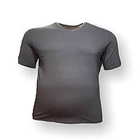 Мужская батальная футболка DioRise 12113 3XL 4XL 5XL 6XL 7XL темно-серая большие размеры Турция, фото 1