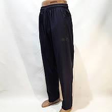 Мужские летние спортивные штаны Puma (Пума) реплика прямые без подкладки Темно-синие