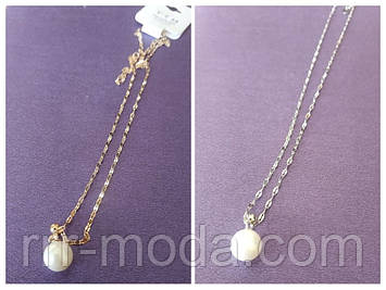 502. Круглые кулоны жемчуг - женские украшения с камнями оптом. Мед золото кулоны Xuping Jewelry