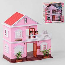 Будиночок KB 99-33 (8) 2 поверхи, 4 фігурки персонажів, меблі, світло, на батарейках в коробці