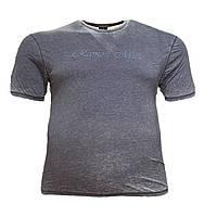 Чоловіча батальна футболка Miele 12117 2XL 3XL 4XL 5XL 6XL сіра великі розміри Туреччина, фото 1