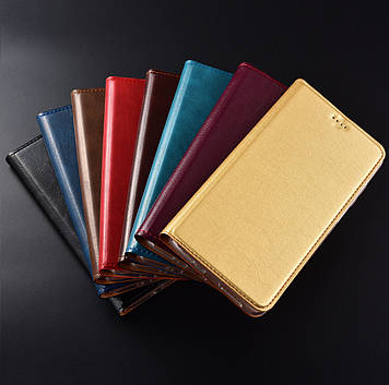 """Чехол книжка противоударный магнитный КОЖАНЫЙ влагостойкий для LG G8 ThinQ """"VERSANO"""""""