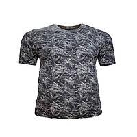 Чоловіча батальна футболка на резинці Jean Piere 12119 6XL 7XL 8XL синя великі розміри Туреччина, фото 1