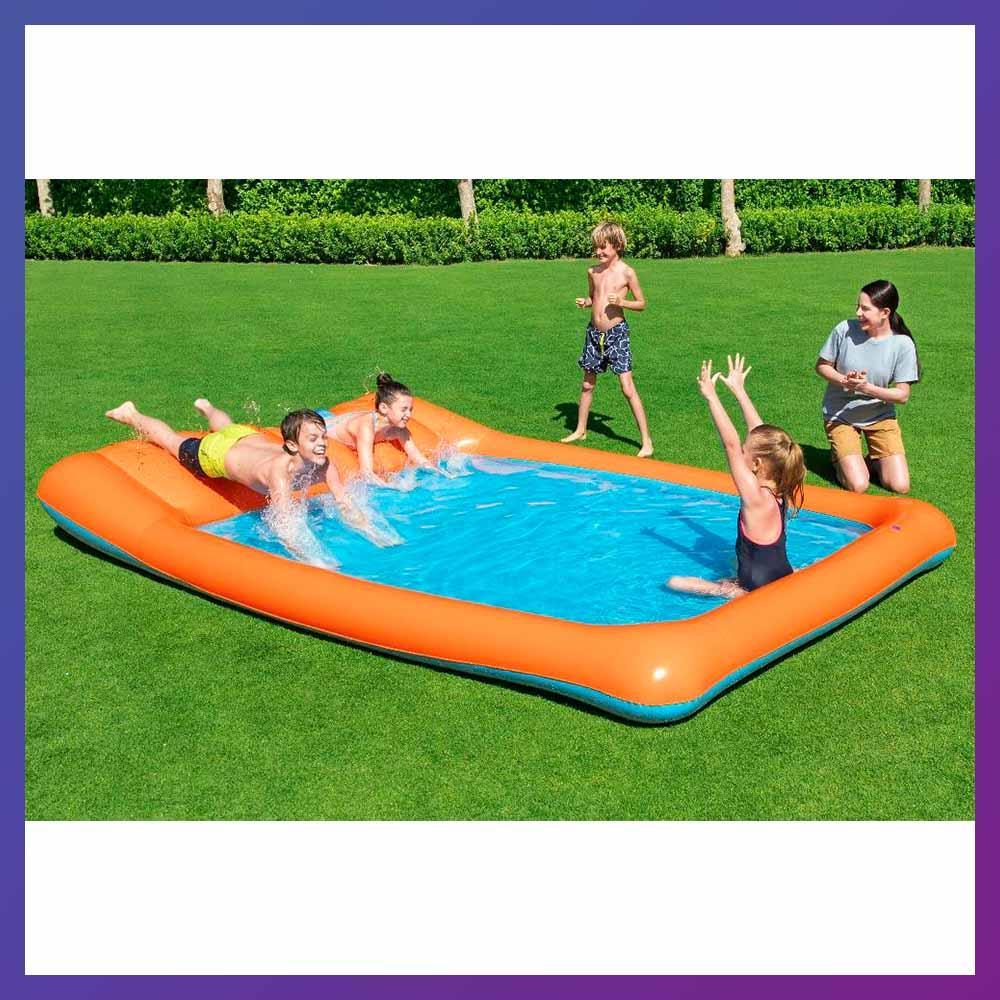 Детский надувной игровой центр с бассейном и горкой Bestway 53080