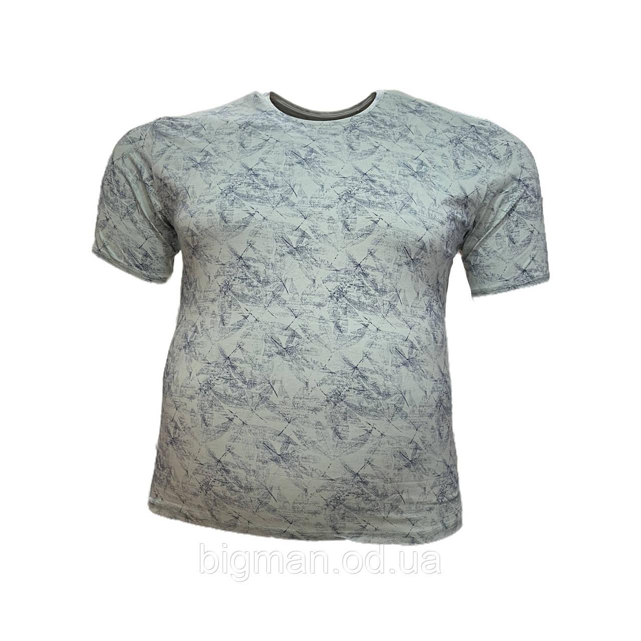 Мужская батальная футболка на резинке Jean Piere 12121 6XL 7XL 8XL бирюза большие размеры Турция
