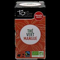 Чай зеленый с ароматом манго неферментированый в пакетиках органический Touch Organic,43,2г (24*1.8г)