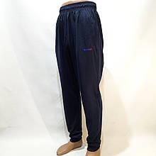 Летние мужские спортивные штаны Reebok (Рибок) реплика на манжете без подкладки Темно-синие