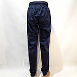 Летние мужские спортивные штаны Reebok (Рибок) реплика на манжете без подкладки Темно-синие, фото 6