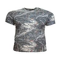 Мужская батальная футболка на резинке Jean Piere 12125 6XL 7XL 8XL серая большие размеры Турция, фото 1