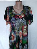 Летнее штапельное платье. Платье с коротким рукавом из натуральной ткани 1286, фото 2